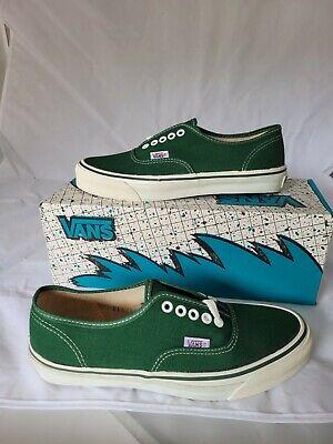 Vintage VANS shoes Authentic Made in USA Size Men 8 Pine Green BMX Skateboarding