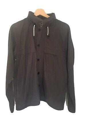 Margaret Howell MHL Parka Jacket Gray Japan Foldable Hood Size XL US Large