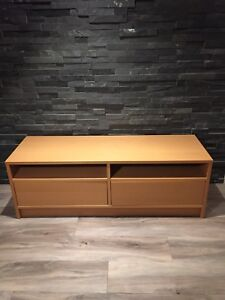 IKEA TV Stand - Maple Finish with Drawers