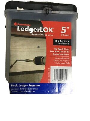 Fasten Master Ledgerlok. 5 Structural Wood Screw . No Predrilling