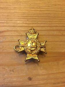 Nottinghamshire Derbyshire Regiment Collar Badge Sherwood Foresters Kings Crown