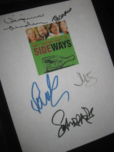 Sideways Signed Film Script X5 Paul Giamatti Thomas Haden Church Sandra Oh repnt