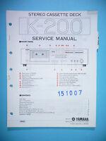 Servicio Manual De Instrucciones Para Yamaha K-200, Original - yamaha - ebay.es