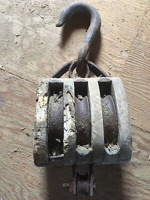 3 spindal barn pully ( heavy duty)