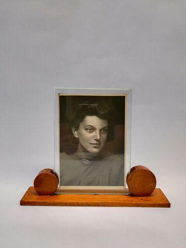 original Art Deco Fotorahmen Fotohalter Fotoständer 18x13 aus Holz ca 192030