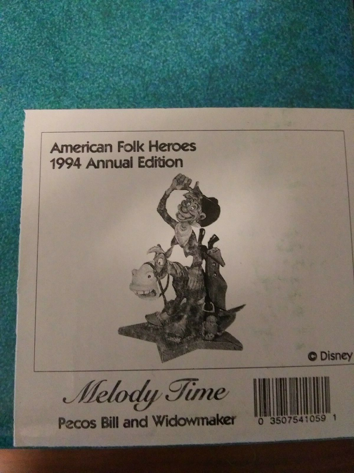 Wdcc Disney American Folk Heroes Melody Time Pecos Bill Widowmaker Coa Nrfb Ebay