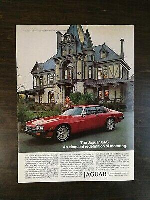 Vintage 1979 Jaguar XJ-S Full Page Original Color Ad