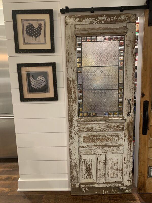 Antique Beveled Glass Door