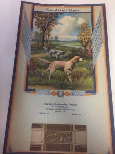 1935 Goodrich TiresAdv Calendar~FOURNIER