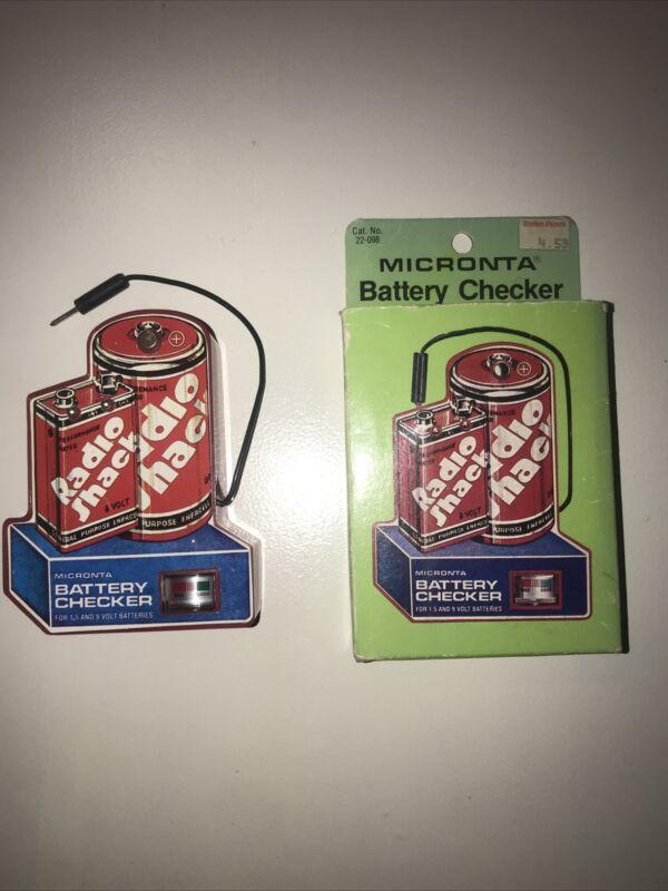 Vintage Radio Shack Micronta Battery Checker Model #22-098 1982-1989 W/Box Works