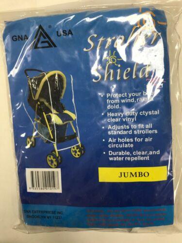 Heavy duty jumbo size stroller shield wing rain snow cold protector