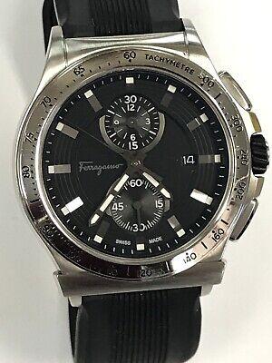 Salvatore Ferragamo GRANTURISMO SS Men's Watch FFJ030017 Rubber Band Swiss Made
