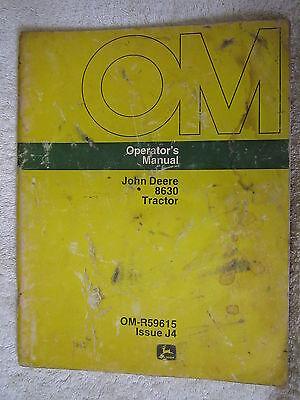 JOHN DEERE 8630 TRACTOR OPERATORS MANUAL