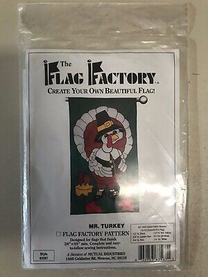 Mr. Turkey, Thanksgiving SEALED Flag Factory Pattern, Create Your Own Flag