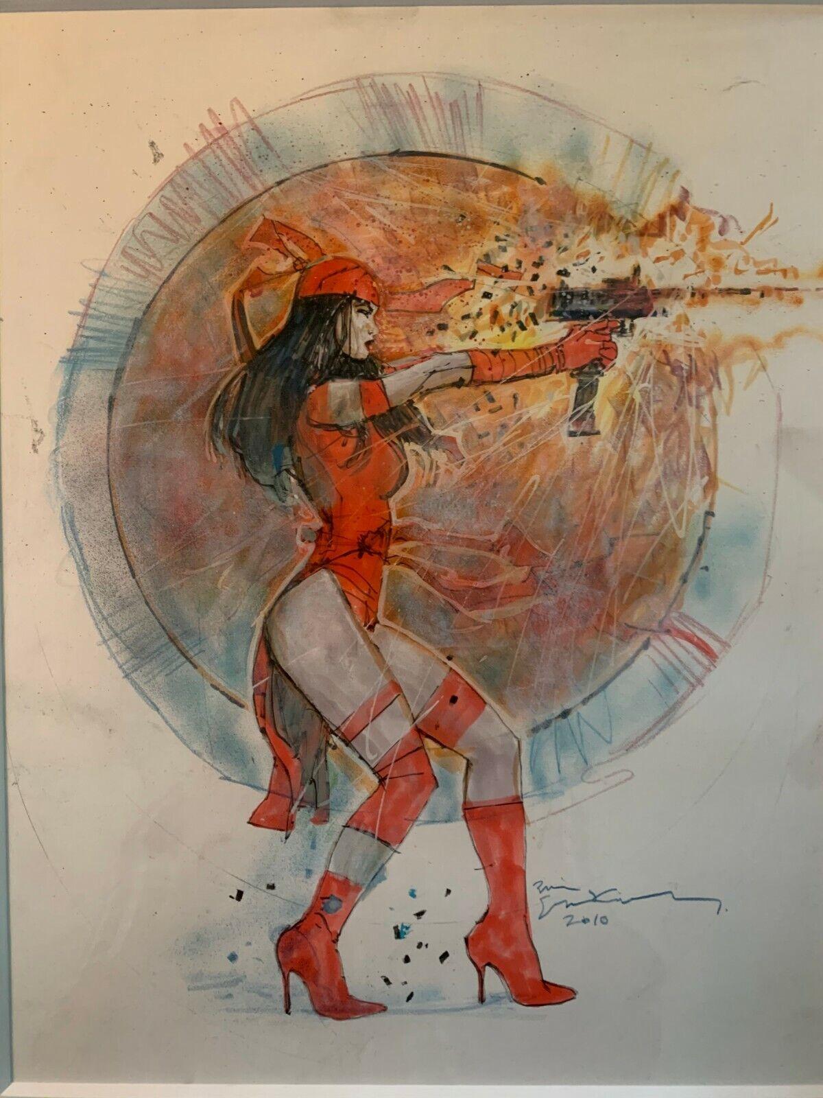 Bill Sienkiewicz Original Artwork – Elektra Assassin