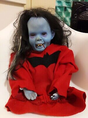 Creepy Vampire Bat Girl Doll Homemade Halloween Scary Realistic Ex TV Show Prop