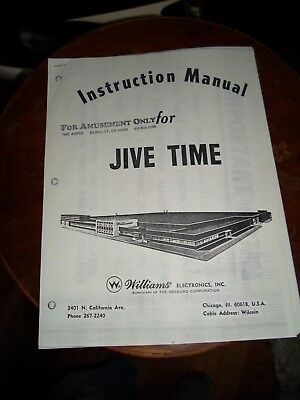 jive time Pinball Machine by WILLIAMS Instruction Manual 1975 photocopie for sale  Shipping to Nigeria