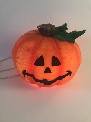 Vintage Trandmaster Light Up Halloween Pumpkin Blow Mold Jack O'Lantern