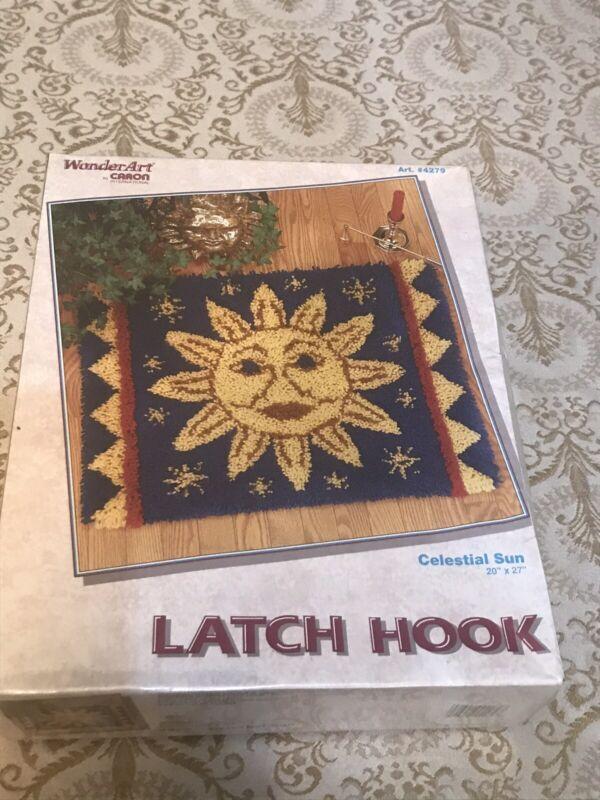 "Rare Kit UNUSED Caron Latch Hook Rug Kit 20x27"" ""Celestial Sun"" 4279:Wonder Art"