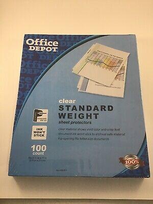 Office Depot Standard Weight Sheet Protectors 8 12 X 11 Clear 100-pack.