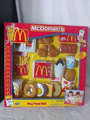 VTG 2001 McDonalds Play Food Set Hot Cakes Sausage Fries Pie Cookies Burger CDI