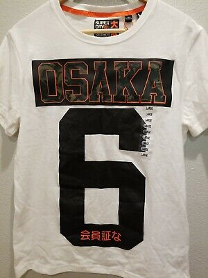 Superdry Osaka +6 Project Sz Large White tee Shirt, Camo details