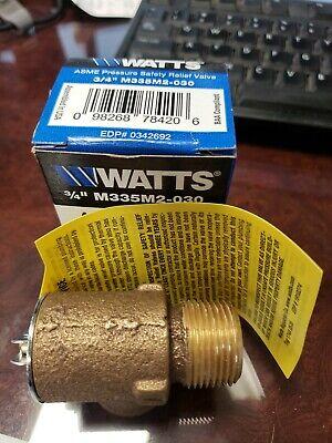 New Watts M335m2-030 Asme 34 Pressure Safety Relief Boiler Valve