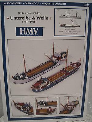 Küstenmotorschiff Unterelbe Welle Kartonbausatz *NEU* Bastelbogen Kartonmodell