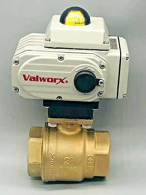Valworx 567616a Electric Actuated Brass Ball Valve Assembly 2