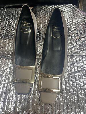 Roger Vivier Women's Leather Square Toe Heel Shoe Sz 38