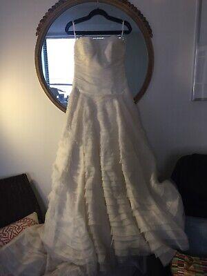 NWT Watters Bride Multi Tiered Silk Organza Gown