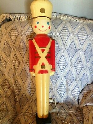 "DISCOUNTED VINTAGE CHRISTMAS UNION 31 1/2"" HARD PLASTIC TOY SOLDIER BLOW MOLD"