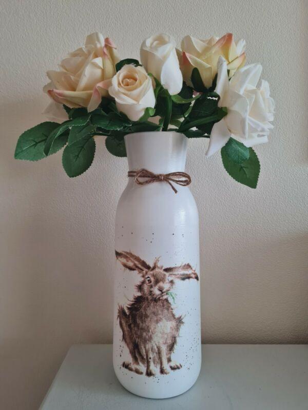 Wrendale+Hare+decoupage+vase+