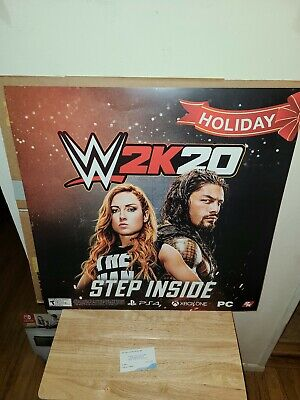 """WWE2K20 Promotional Poster Video Game Poster/DISPLAY Holiday 24""""×24"""" for sale  Shipping to India"""
