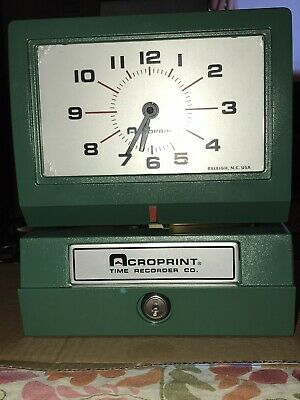 Acroprint Heavy Duty Time Clock Model 125 - Manual-125nr4 Time Recorder Co. New