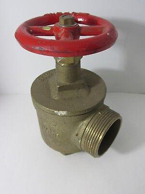 Bh Figa97 Brass Fire Hose Valve 300 2-12 Fig A97 Firehose Industrial Decor Red