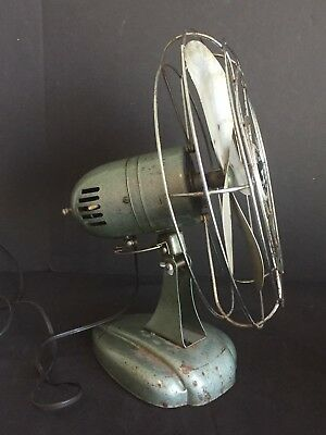 Antique Vintage Zero Model 1275R Electric Fan with Metal Blades