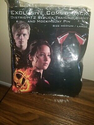 District 12 Halloween Costume (The Hunger Games District 12 Training Shirt adult Sz M/L NECA Halloween)