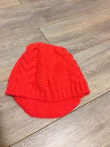Bright red woven polyester hat
