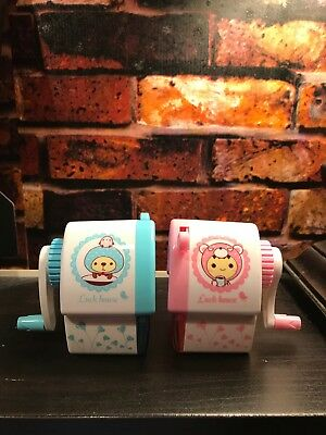 Lot Of 12 Cute Kids Pencil Sharpener Stationery Hand Crank Mechanical