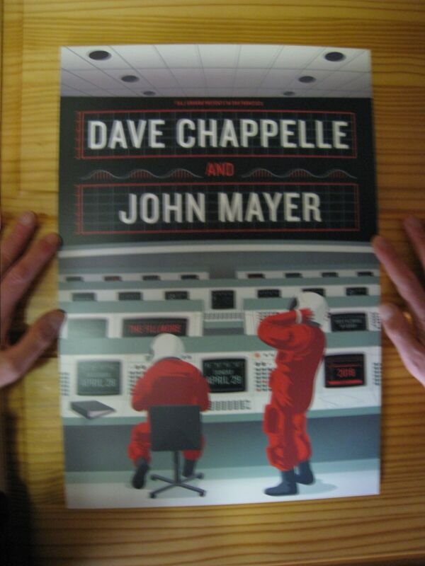 Dave Chappelle And John Mayer Poster 4 28 and 29 2015 Fillmore