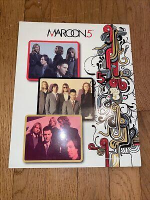 Maroon 5 Rare School Folder Binder 2008 Stationary Fine Line Adam Levine New