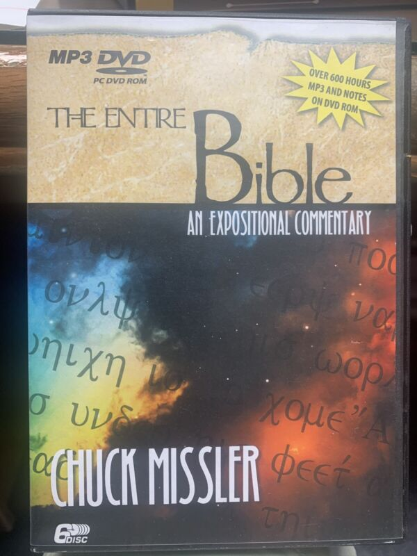 The Entire Bible An Expositional Commentary on MP3 PC DVD ROM by Chuck Missler
