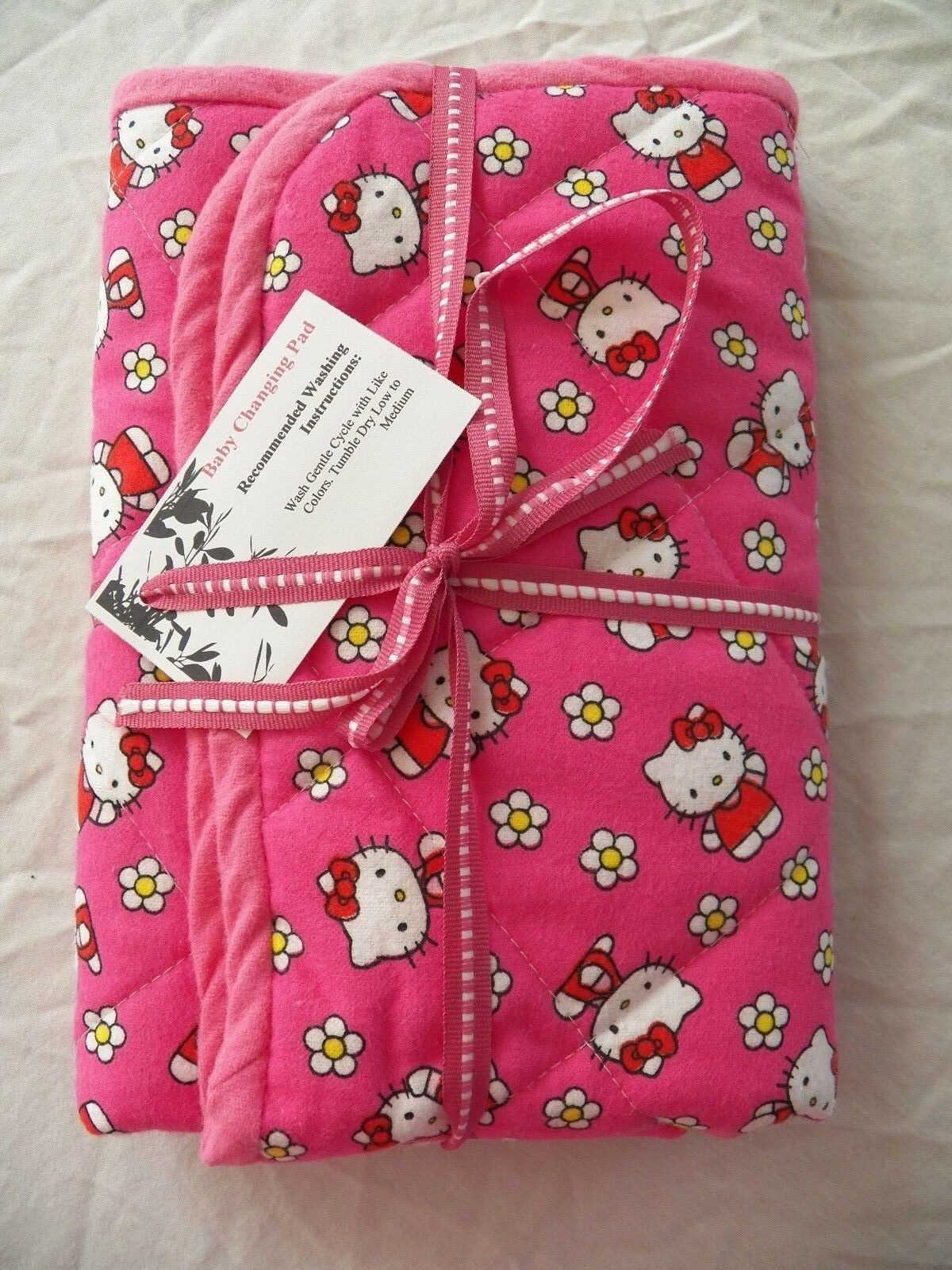 BABY CHANGING PAD Portable Diaper Travel Mat Cotton Washable Padded Handmade NEW 32