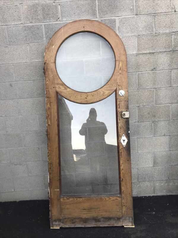 "Cm708 Antique Round Top Entrance Door 35.5 X 88 X1.75"""