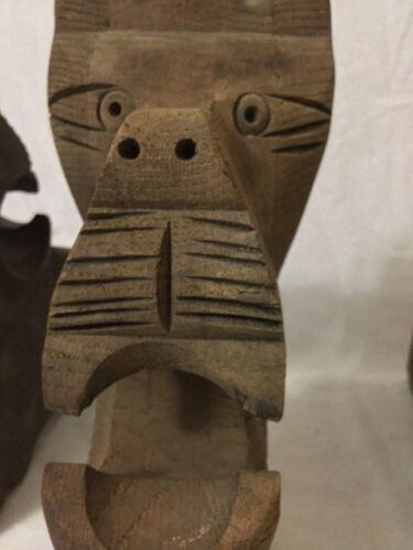 Antique Wooden Lion Head Corbels - $450.00