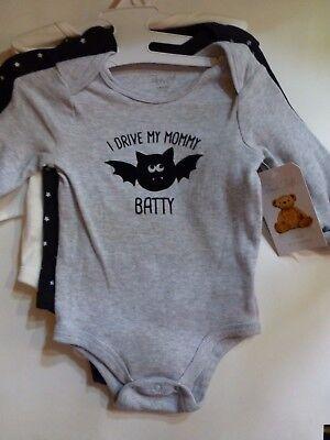 Rene Rofe Unisex 6-9 Months Set of 3 Baby One Piece Bodysuits New Halloween - Rene Halloween