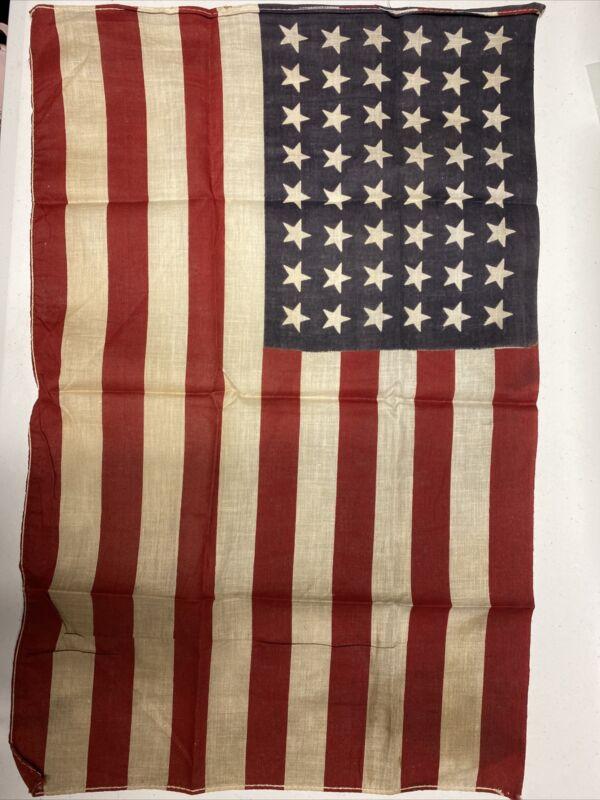 H1206 Original WW2 US 48 Star Printed Flag IR45B