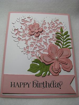 Stampin' Up! HAPPY BIRTHDAY Thanks Congrats Think Heart Flowers Card Kit 2 Cards