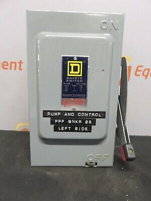 Square D Safety Switch Hd 30 Amp 600 Volt Hu-261 Series E1